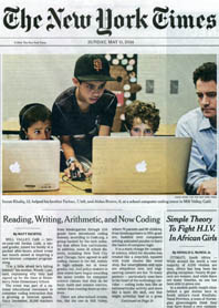 Hour Of Code Night in 5/11/14 NY Times